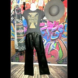 Vintage Leather Pants Outfit Bundle Lynyrd Skynyrd